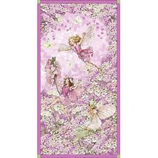 Pink Petal Flower Fairies Quilting Cotton Fabric Panel Michael Miller DC5110