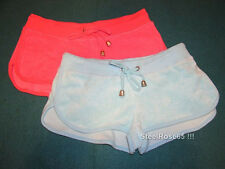 2 Lot NEW Aeropostale Junior Girls Pink & Blue Terry Cover-up Shorts XS X-Small