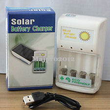 Multi-functio USB Charger+ 0.5W Solar Battery Charger For 4 pcs AA/AAA Batteries