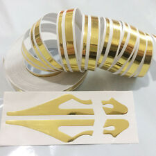 12mm Striping Pin Stripe Steamline DOUBLE LINE Tape Car Decal Auto sticker Gold