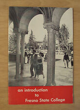 """VTG ca 1954 """"An INTRODUCTION to FRESNO STATE COLLEGE""""~Old Campus~California~"""