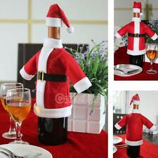 Christmas Santa Claus Wine Bottle Cover Dinner Party Table Decor Xmas Holiday