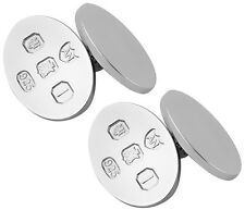 OVAL CUFFLINKS FEATURE HALLMARK STERLING SILVER 925 NEW FROM ARI D NORMAN
