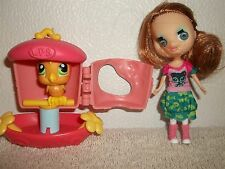 Littlest Pet Shop Doll With Bird In Cage Cake Topper Or Toy Figures