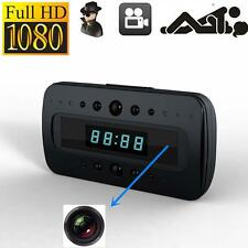 HD 1080P SPY Hidden Camera Clock Remote Night Vision Motion Detection Mini AT*