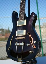 RS SEMI HOLLOW BODY * DOUBLE CUT humbucker Wilkinson sintonizzatore Set Neck MOGANO BR