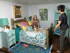 BARBIE ,DRESSER, night table,ADULT MINIATURE,DIORAMA,OOAK ,Free Shipping Today !