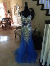 $438 NWT BLUE TERANI COUTURE PROM/PAGEANT/FORMAL DRESS/GOWN #151P0122A SIZE 4