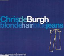 CHRIS DE BURGH - Blonde Hair Blue Jeans (UK 3 Tk CD Single)