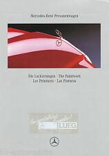 Mercedes Lackierungen Prospekt 1/92 brochure paintwork 1992 Auto PKW Deutschland