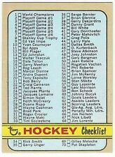 1972-73 TOPPS HOCKEY #94 CHECKLIST 1-176 - VG+/EX-