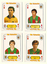 Portugese Cracks 1982-83 Football 4 Playing Card types FC Penafiel & CS Maritimo