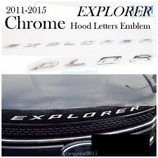 SHIP FM US! CHROME Hood Emblem Decal Sticker Letter Fits 11-15 Ford Explorer