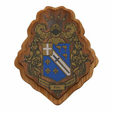 "Alpha Phi Omega Raised Wood Crest 3.5"" Paddle Accessory"