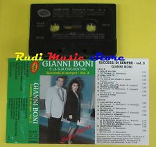 MC GIANNI BONI ORCHESTRA MARIA successi di sempre vol3 BORGATTI no cd lp dvd vhs