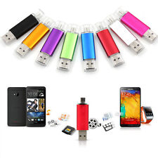 8GB 2in1 Micro USB/USB 2.0 Flash Drive Memory Stick Pen OTG Function UK
