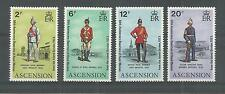 ASCENSION ISLANDS 1973 ROYAL MARINES  SG,174-177 U/M NH LOT 2710A