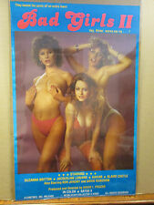 vintage Bad Girls II original Adult Film poster hot girl rated x 8722