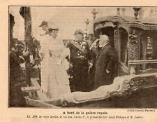 PORTUGAL GAMBETTA REINE AMELIE ROI DON CARLOS IER MR LOUBET IMAGE 1905 OLD PRINT