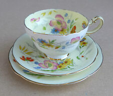 Vintage PARAGON Summertime Trio (Cup Saucer Plate) Flowers & Butterfly