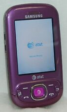 Samsung Strive PURPLE SGH-A687 Mobile Cell Phone AT&T Slider Qwerty Keyboard 3g