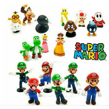Super Mario Bros Full Character Display Figure Toy Cake Topper Decor Collection