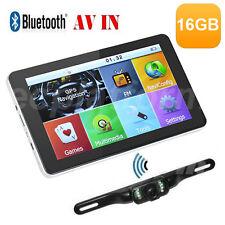 7'' 16GB Car GPS Navigation SAT NAV Navigator Map+Bluetooth AV-IN+Reverse Camera