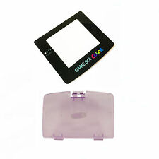 New ATOMIC PURPLE Game Boy Color Battery Cover + New Screen Lens GBC Replacement