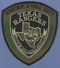 TEXAS RANGERS PUBLIC SAFETY POLICE PATCH TACTICAL GREEN