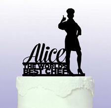 Personalised Female Chef - Cook Cake Topper