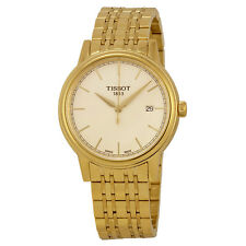 Tissot Carson Champagne Dial Yellow Gold-plated Mens Watch T0854103302100