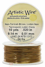 Brass Artistic Craft Wire 30 Feet 9.14 Meters Jewelry Beading Crafts 24 Gauge