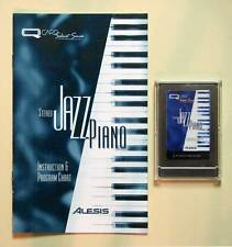 Alesis Stereo Jazz Piano QCard w/Booklet, Case, LIFETIME Warranty QS Card Rare