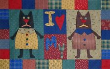 Alleycat Tales COUNTRY CATS Wall Hanging and Pillow Fabric Panel VTNS Primitive