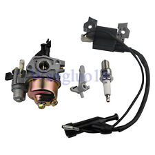 Ignition Coil+ Spark Plug+Carburetor Carb For Honda GX110 GX120 Engine New