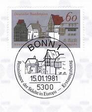 BRD 1981: Renaissance der Städte Nr 1084! Bonner Ersttagssonderstempel! 1A! 1511