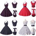 2015 Sexy Frauen Rockabilly 50er Jahre Abendkleid Petticoat Baumwolle Kleider XL