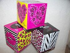 BETSEY JOHNSON 3 KLEENEX BOXES NW LIMITED HEARTS ROSES LEOPARD CHEETAH LIPS