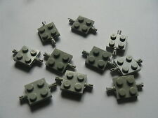 Lego 10 essieux gris clairs 6518 725 1656 6571/ 10 old light gray plate modified