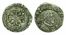 pci0529) Regno di Napoli. Filippo IV (1621-1665). 15 grana. MIR 248. AG NC