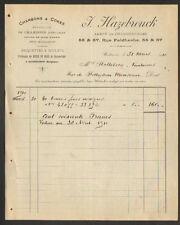 """WATTRELOS (59) CHARBONS COKES BRIQUETTES BOULETS """"J. HAZEBROUCK"""" en 1910"""
