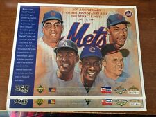 Lot of (2) 1969 MIRACLE METS 25TH ANNIVERSARY LIMITED EDITION UD PHOTOCARD