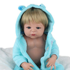 "22"" Boy Doll Handmade Full Body Silicone Reborn Baby Soft Newborn Bath Gift Toy"