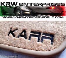 1982-1992 PONTIAC FIREBIRD KNIGHT RIDER KARR FLOOR MAT SET MATS K2000 SUPERCAR