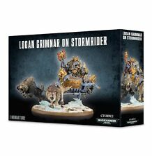 Warhammer 40k - Space Wolves Logan Grimnar on Stormrider *NIB*
