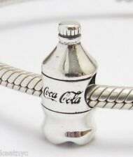 COCA COLA BOTTLE CHARM Bead Sterling Silver .925 For European Bracelets 869