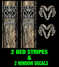 Camo Decal Ram 1500 Bed Stripe Kit Fits Dodge Ram Truck Vinyl Camo Decals