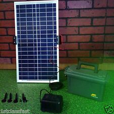 35W SOLAR PANEL POWERED WATER FOUNTAIN PUMP W BATTERY BACK-UP POWER DAY &  NIGHT