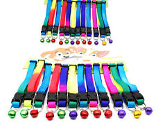 12PCS/Lot Small Dog Cat Collars Pet Necklace W/Bell Safety Collars Wholesale