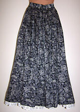 LAURA ASHLEY VINTAGE BROCADE WOVEN VISCOSE ROSE PATTERN PLEATED SKIRT, 12 UK